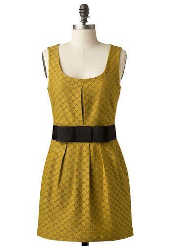 Chartreuse Chanteuse Dress