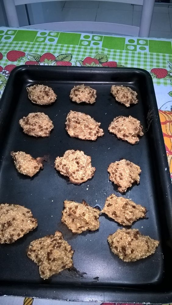Cookies de banana com aveia ~ Eu Fiz Eu Testei