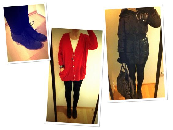 red Benetton cardigan.  BOOTSMANNamp;TORNADO  Pinterest  Cardigans