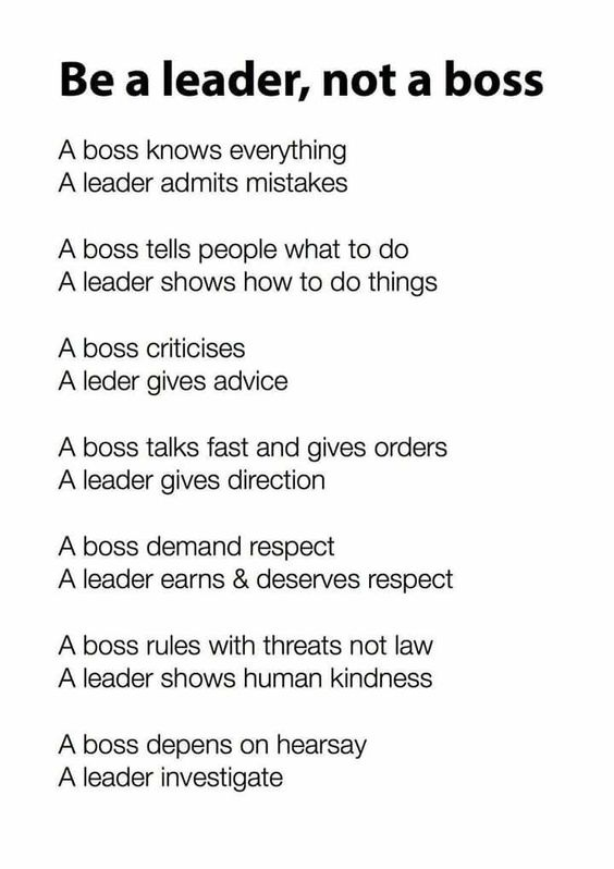 Boss Vs Leader Servant Leadership Work Quotes Leadership Quotes