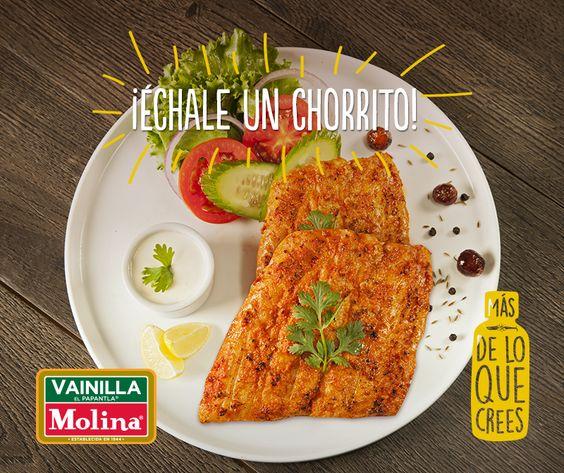 Pierde el #miedo y atrévete a #experimentar con tus platillos. ¡Échale un chorrito de #Vainilla Molina a tus #filetes de #pescado al cocinarlos!