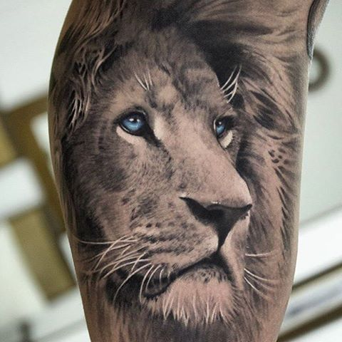 Image Result For Blue Eye Tattoo Lion Head Tattoos Lion Tattoo Meaning Lion Chest Tattoo