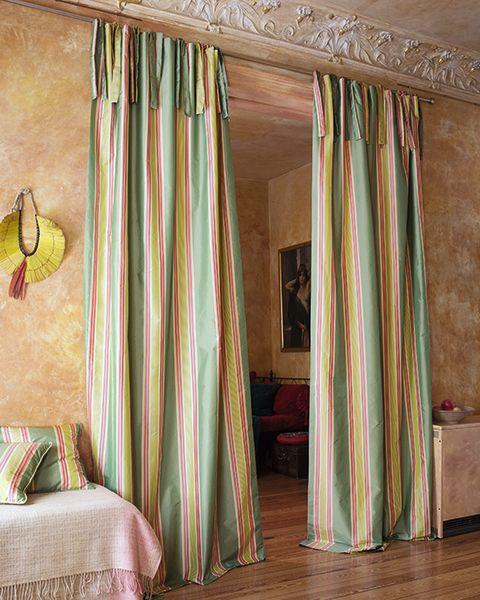 Streifenvorhang Grun Rot Beige Gestreifte Vorhange Streifenvorhange Vorhange