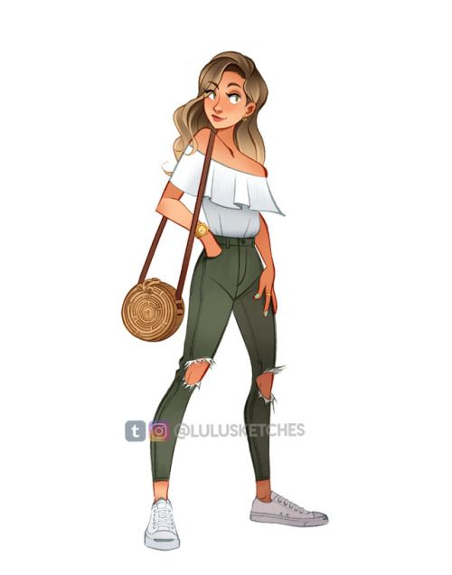 Drawing My Outfits Again More On My Instagram Cartoon Girl