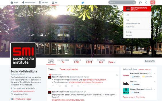 Twitter Headerbild einrichten und weitere Anpassungen