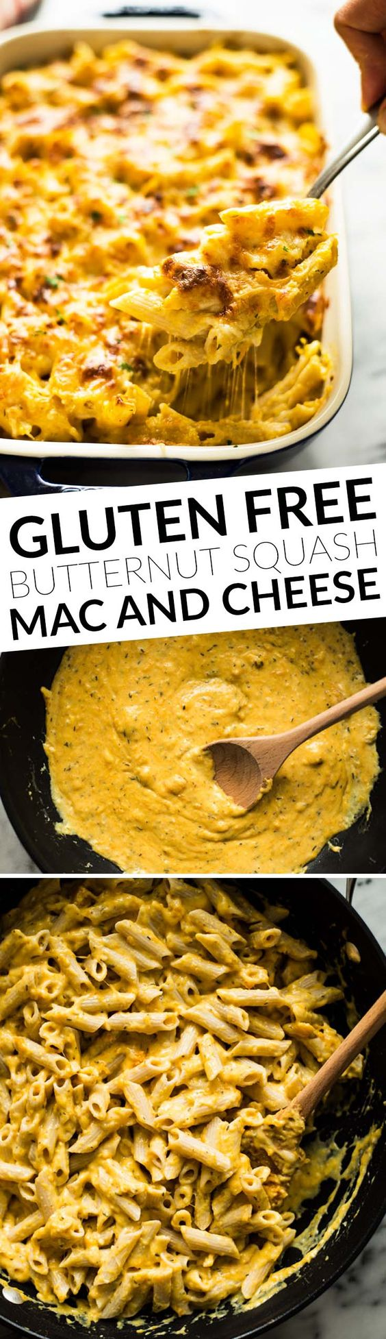 Butternut Squash Baked Mac and Cheese - gluten free and healthier ...