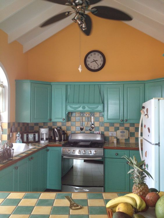 Caribbean kitchen inside and outside home pinterest for Caribbean kitchen design ideas