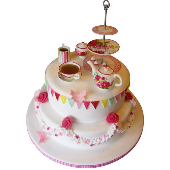 Afternoon Tea Birthday Cake - Google Search