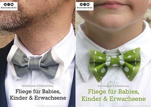 Schnittmuster Fliege für Erwachsene, Kinder & Babies
