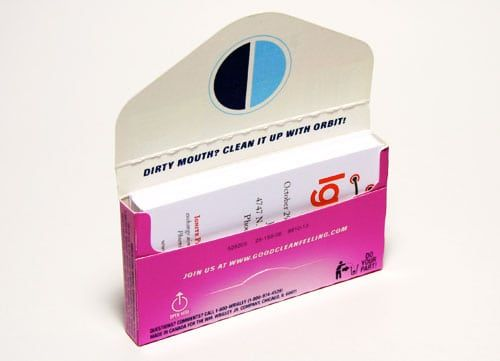 Don T Throw Out Your Empty Gum Containers Try These 10 Brilliant Uses Instead Business Card Displays Business Card Holders Paper Crafts