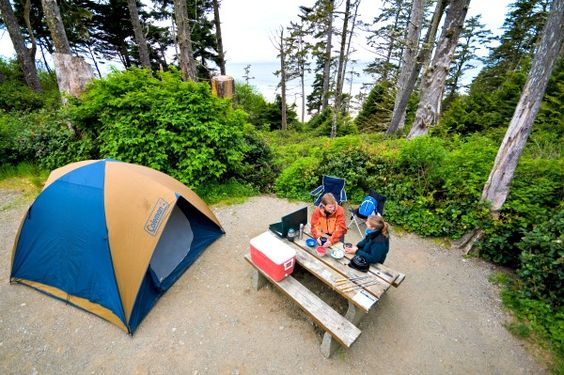 Campgroudns in Canada - Green Point Campground, Pacific Rim National Park Reserve of Canada.