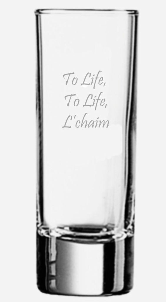 Fiddler on the Roof L'chaim shot glass