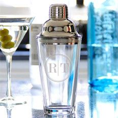 Best hostess gift! Personalized Cocktail Shaker with Two Block Initials Cathys Concepts $31.12