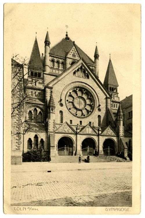 Roonstrasse Synagogue, Cologne, Germany, circa 1900