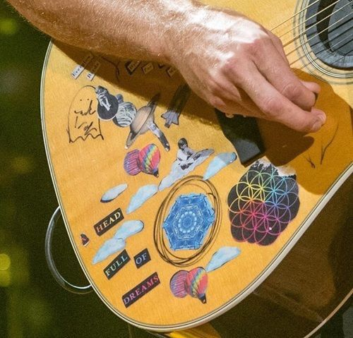 Pin By Kat On The Best Band In The World Coldplay Songs Coldplay Guitar Stickers