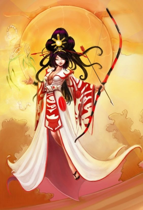 Shinto Sun Goddess | Amaterasu Omikami | Beautiful Digital ...