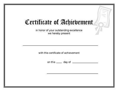 Blank Award Certificate Template – Certificate Template Blank
