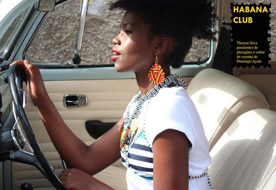 HABANA CLUB Pendientes Jamaica con collar de cuentas y plexiglass de #domingoayalahandmade special thanks @patersontenerife http://domingoayala.es/jewellery/lookbook-ss2016
