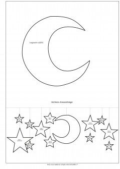 Gabarit Lune et Schéma d'assemblage