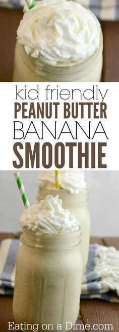 We have a kid friendly smoothie! This Peanut Butter Banana Smoothie Recipe is loved by kids an adults. Plus it is easy to make.