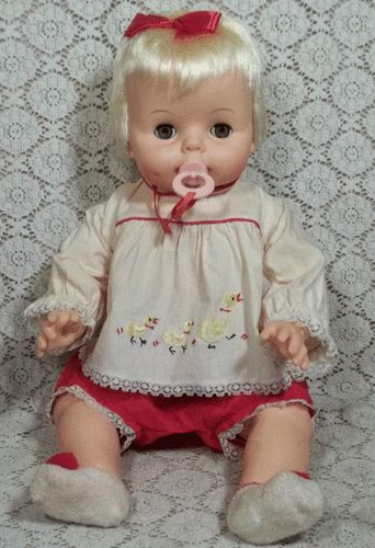 "Vintage 1965 Deluxe Reading Baby Boo Doll 21"" All Original w Box"