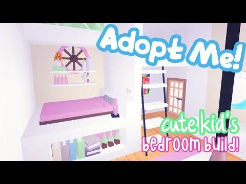 Adopt Me Cute Aesthetic Kid S Bedroom Speed Build Tour Simple House Building Hacks Tips Roblox In 2020 Cute Room Ideas Simple Bedroom Design Unique House Design