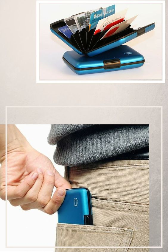 men using security wallets