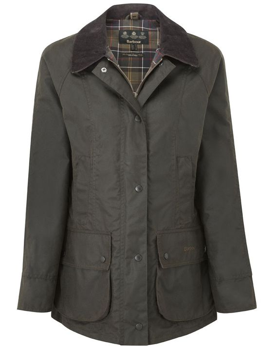 Barbour Classic Beadnell Waxed Jacket - Olive