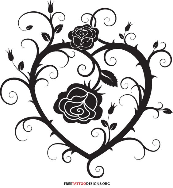 Tribal broken heart tattoo designs