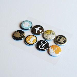 Travel button embellishments.