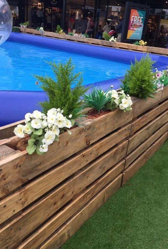 Palettenpool Kreative Ideen Und Wie Sie Ihre Ideen Umsetzen Konnen Neue Dekorationsstile Pool Ideen Poo Diy Swimming Pool Pallet Pool Backyard Pool Designs