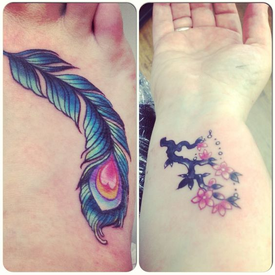 Freshly inked - new foot and wrist tattoos