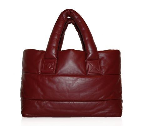 Chanel Burgundy Leather Coco Cocoon Tote Bag