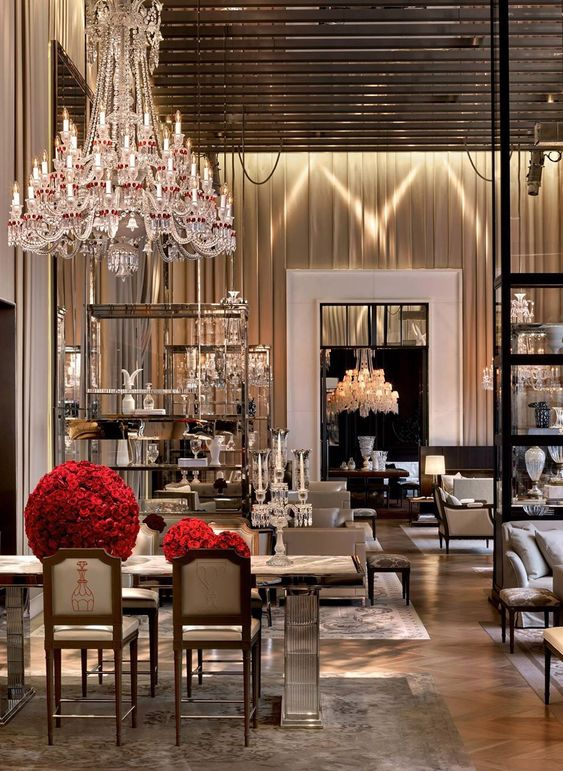 Wall Colour Inspiration: Grand Salon At The Baccarat Hotel New York