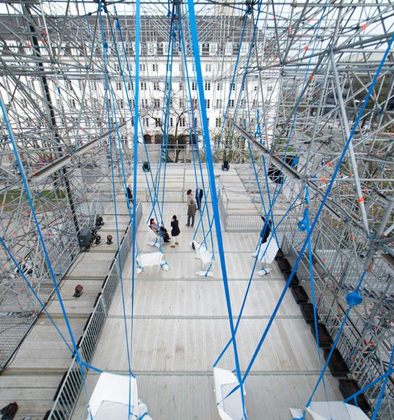Temporary Scaffolding Exhibition Space by J.Majer H. Architects of Berlin