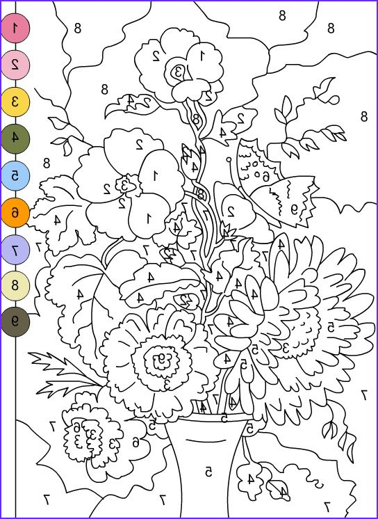 Mandala Difficult Color By Number Printables