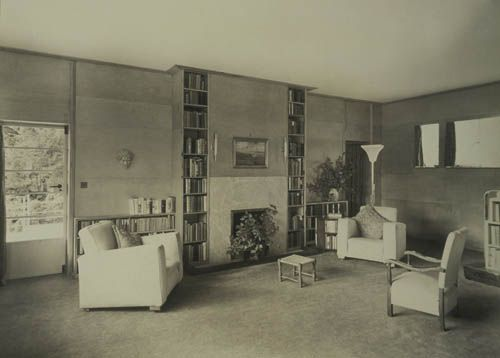 Living Room C 1935 Photograph