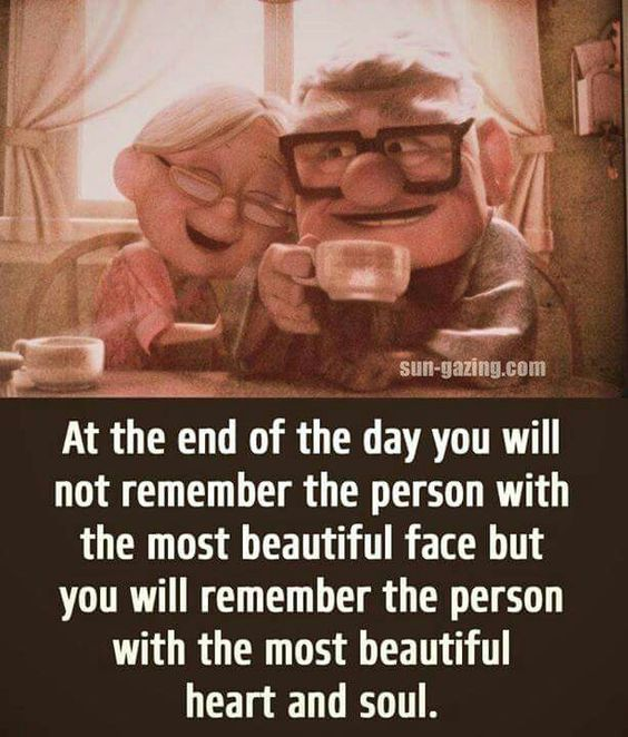 At the end of the day you will remember the person with the most beautiful heart & soul ♥