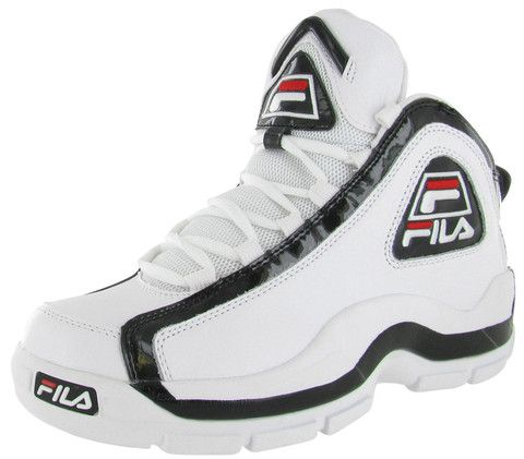 Men's Fila 95 Retro Basketball Shoes | FinishLine.com | Black ...