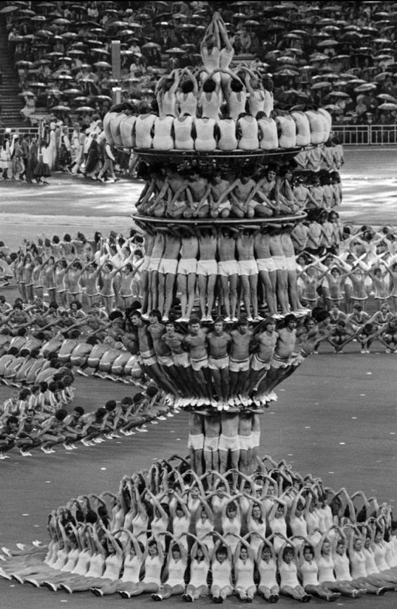 Opening ceremony of the Moscow Olympic Games, 1980.