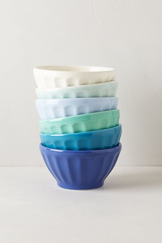 you can never have too many @Anthropologie.com latte bowls, right? love these colors. #anthrofave #ombre #blue