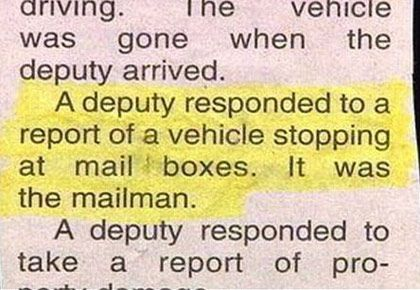 And we wonder why they go postal?