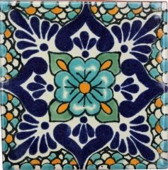 Talavera Mexican Tile - Specials  to tile the rise of the stairs