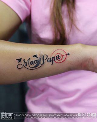 Maapaa Tattoo Maapaatattoo Maapaatattoos Maapaatattoo Birdtattoo Arrowtattoo Tattoocolor Col Mom Tattoos Mum And Dad Tattoos Dad Tattoos