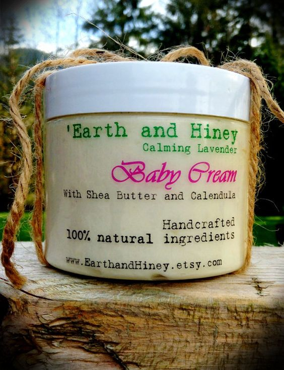 All Natural Baby Cream by EarthandHiney on Etsy