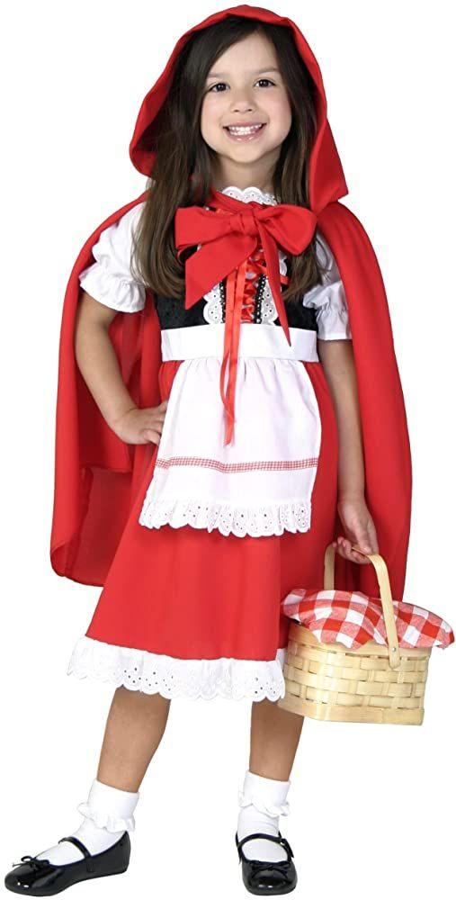 Halloween 2020 Little Red Riding Hood Costume Amazon.com: Deluxe Little Red Riding Hood Costume for Girls Kids