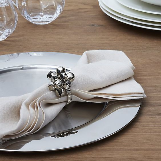 Jingle Bell Napkin Ring | Crate and Barrel