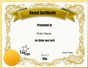 Free Editable Certificate Template Customize Online Print At Home Certificate Design Template Awards Certificates Template Free Certificate Templates
