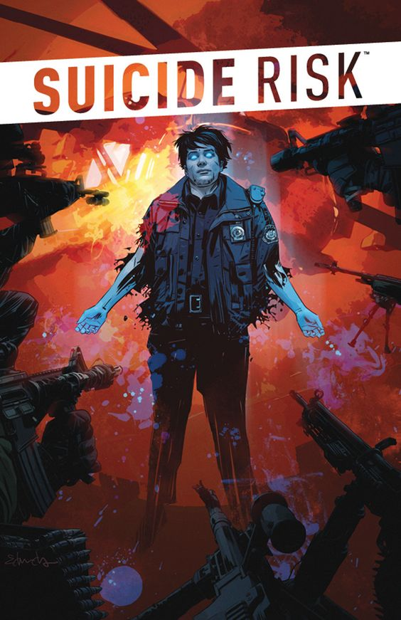SUICIDE RISK #7 Price: $3.99  Author(s): Mike Carey  Artist(s): Elena Casagrande  Cover Artist(s): Tommy Lee Edwards   With the Nightmare Crew's true plan revealed, Leo Winters must test the very limits of his burgeoning power to stop them -- but will using his powers play right into their hands? Or, cause an even bigger tragedy than the one Leo's putting so much at risk trying to stop?