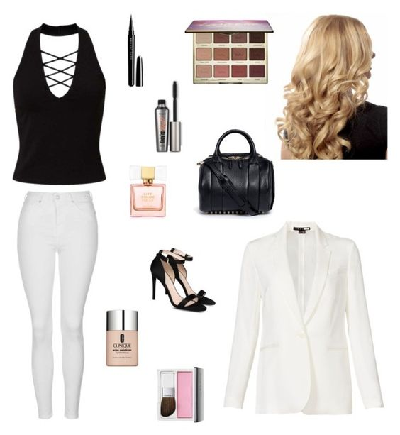 """""""Fancy Event"""" by alexisarbuckle ❤ liked on Polyvore featuring Miss Selfridge, STELLA McCARTNEY, Topshop, Alexander Wang, tarte, Kate Spade, Marc Jacobs, Theory and Clinique"""